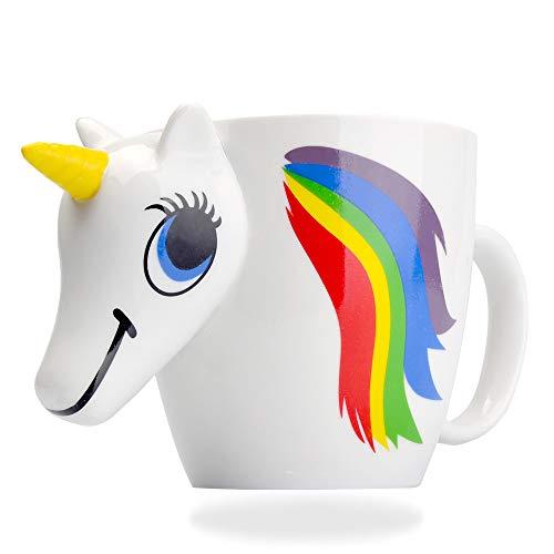 Gooaction Unicorn Rainbow Ceramic Color Changing Mug 3D Heat Sensitive Magical Coffee Tea Mugs Cup (Tea Magical)