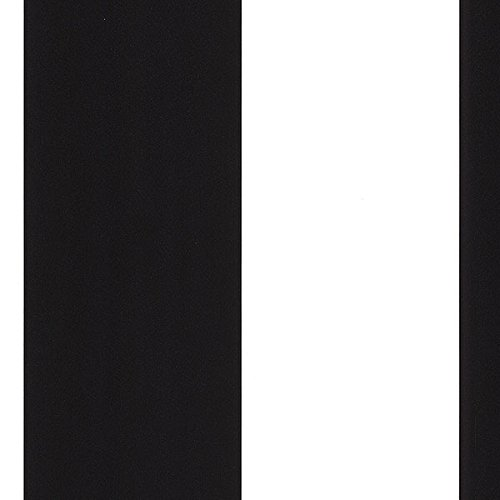2 Black Striped Wallpaper Rolls - Manhattan comfort NWTS28131 London Series Vinyl Wide Stripe Design Large Wallpaper Roll, 20.5