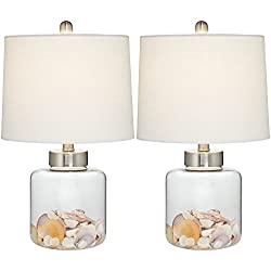 Glass Canister Small Fillable Accent Lamp Set of 2