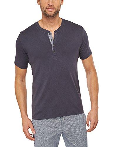 Schiesser Herren Schlafanzugoberteil Mix & Relax Shirt kurzarm, Gr. Medium (Herstellergröße: 050), Grau (anthrazit 203)