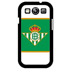 Samsung Galaxy S3 Case,Real Betis Balompi¨¦ Logo Protective Phone Case Black Hard Plastic Case Cover For Samsung Galaxy S3