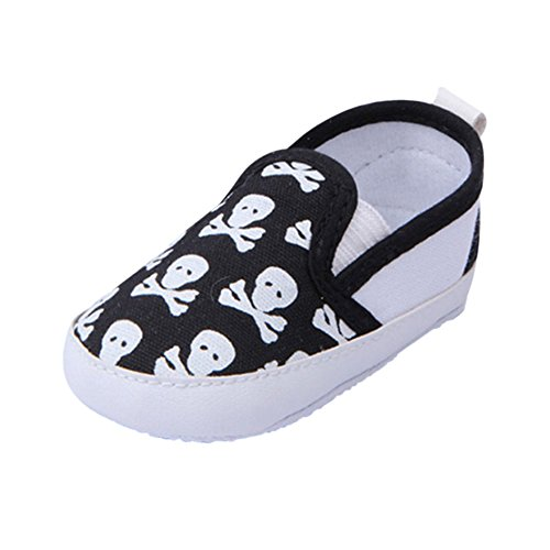 - Norbi Baby Skull Print Soft Bottom Baby Shoes Black