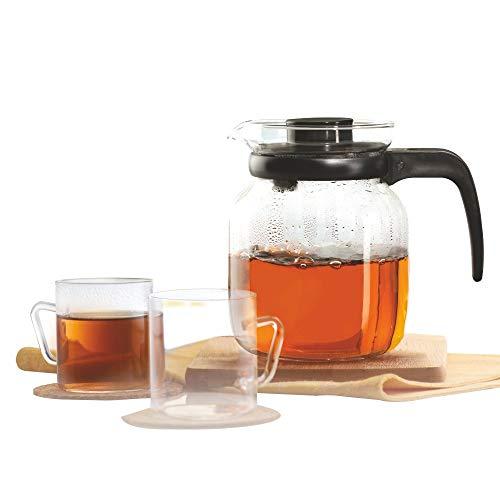 Borosil   Classic Glass Tea Set, 190ml, Clear