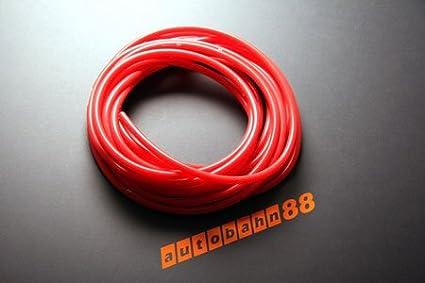 Unterdruckschlauch Innendurchmesser 10 mm rot*** Silikonschlauch Vakuumschlauch Schlauch Meterware