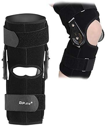 Filfeel Knie-Unterstützung, Verstellbarer Winkel Knie-Klammer Wrap Unterstützung für Bein-oder Knieverletzung, verstaucht Knieband und Sport mit FDA genehmigt