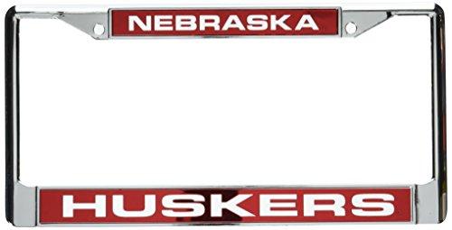 - Rico Industries NCAA Nebraska Cornhuskers Laser Cut Inlaid Standard License Plate Frame, Chrome, 6