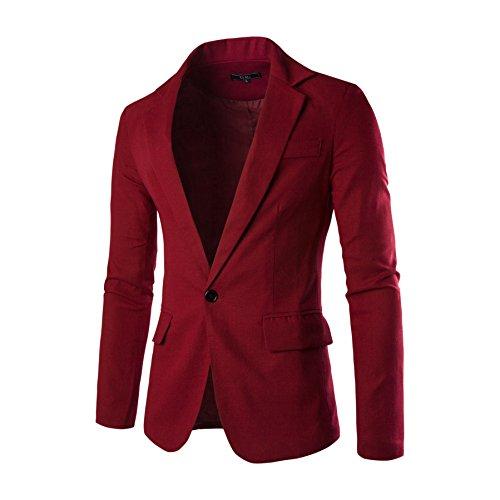 ZUNEPOAR Mens Slim Fit Casual Blazer Suit Jacket Solid Color Coat