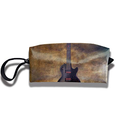 Cosmetic Bags With Zipper Makeup Bag Guitar Magic Middle Wallet Hangbag Wristlet Holder for $<!--$7.50-->