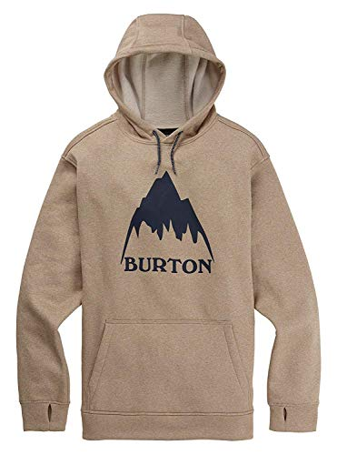Burton Men's Oak Pullover Performance Fleece Hoodie (Plaza Taupe Heather, ()