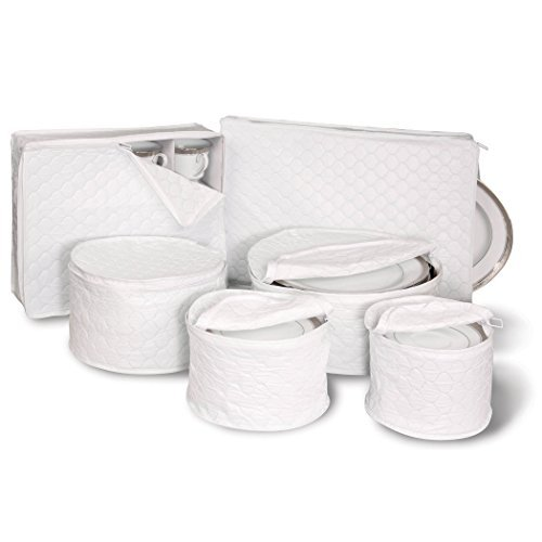 Quilted China Keepers 6pc. Starter Set -Crimson - White