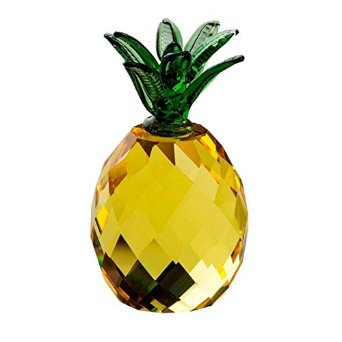 Crystal Glass Block Pineapple Figurine Ornaments Christmas Sale Feng shui Festive Party House Desk Deocration Craft Gift