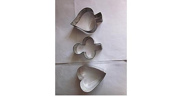 Vintage Set of 3 Spades Cookie Cutters Germany