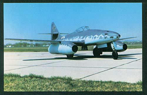 Messerschmitt Me 262 Schwalbe Swallow Junkers Jumo Engine Turbojet Fighter WWII Airplane Postcard