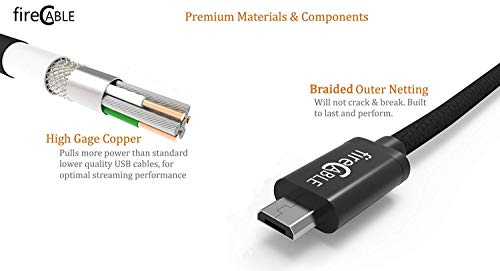 fire-Cable Wireless Cable for Powering FireStick Fire TV Stick and Streaming Media Players Directly from TV, Eliminates AC Outlet