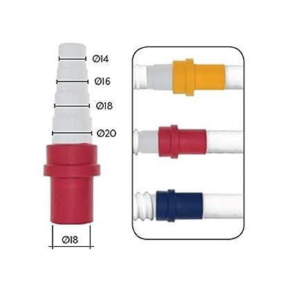 18 x 18 mm connessione tubo acqua di raffreddamento tubo Connettore Tubo Flessibile Connettore