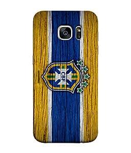 ColorKing Football Brazil 15 Multi Color shell case cover for Samsung S7 Edge
