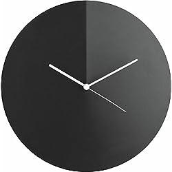 Alessi Arris Wall Clock, Black by Adam Cornish