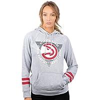 fan products of UNK NBA Women's Fleece Hoodie Pullover Sweatshirt Varsity Stripe, Team Logo Gray