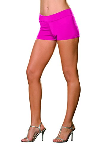 Hot Pink Spandex Shorts - Dreamgirl Women's Roxie Short, Hot Pink, Medium/Large