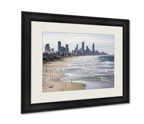 Ashley Framed Prints, Gold Coast View From Miami Headlands, Wall Art Decor Giclee Photo Print In Black Wood Frame, Ready to hang, 16x20 Art, - Glass Headlands
