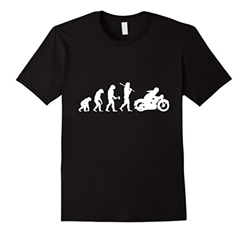 Men's Funny Vintage Motorcycle Motorbike Bikie Evolution T-Shirt XL Black (Vintage Motorcycle Shirts)