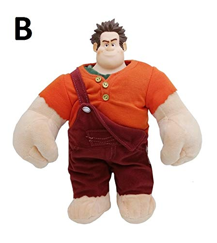 (PAPWELL Wreck It Ralph Toys 7/11 inch Ralph Fix-it Felix Disney Big Plush Toy Large Stuffed Gift Collectable Christmas Halloween Birthday Gifts Cute Doll Collectibles New Collectible for Kids)