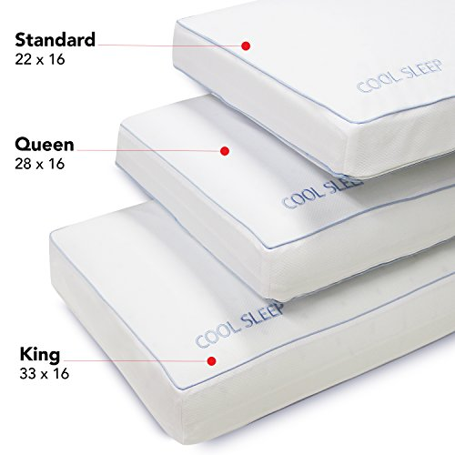 Classic Brands Cool Sleep Ventilated Gel Memory Foam Gusseted Pillow, King