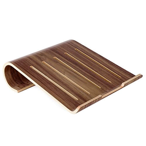 wood laptop stand vimvip wooden laptop stand holder for macbook air macbook pro ipad pro surface prou0026 other laptop notebook natural