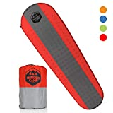 Rugged Camp Self Inflating Sleeping Pad - Sleep Comfortably in The Outdoors - Camping Gear and Accessories for Hiking, Backpacking, Travel - Lightweight and Compact Camping Mat