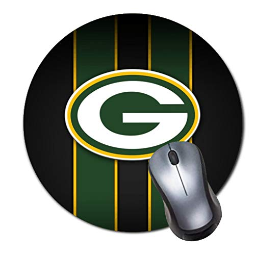Green Bay Packers Laptop - CASEOET Round Gaming Mouse Pad Custom Design, 8
