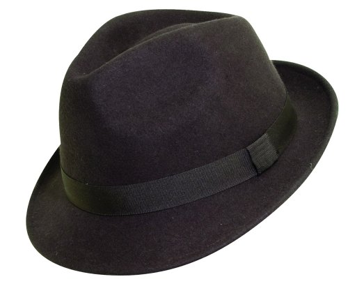 "DPC ""Asbury"" Soft Wool Fedora (Medium, Chocolate)"