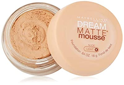 Maybelline New York Dream Matte Mousse Foundation, Caramel, Dark 2, 0.64 Ounce, Packaging May Vary