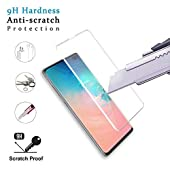 Galaxy S10 Plus (6.4'') Screen Protector, [Case Friendly][9H Hardness][ Fingerprint Unlocking][Bubble-Free] Tempered Glass Screen Protector for Samsung S10 Plus