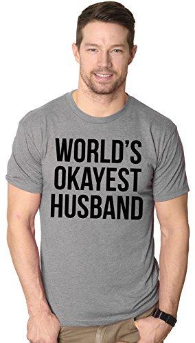 Husband Funny Novelty T-shirt (Mens Okayest Husband T shirt Funny Perfect Gift For Dad Husbands Gifts Hilarious (Grey) L)