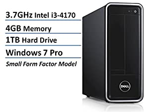 Newest Dell Inspiron 3000 Series High Performance Small Form Desktop, Intel Dual-Core i3-4170 Processor 3.7GHz, 4GB RAM, 1TB HDD, DVDRW, Mouse/Keyboard, WLAN, Bluetooth, HDMI, Windows 7 Professional
