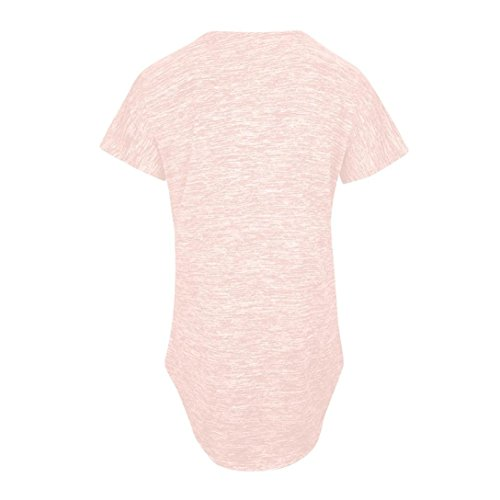 Femmes 5 Loose Blouse Court Tops Couleur Zip Chic Neck ~ Gilet XXL V Chemisie Loose Fitting Rose Courtes Tunique Guesspower Chemise Shirt Womens S Manches Casual T Up Blouse 0gxq5wyEyX