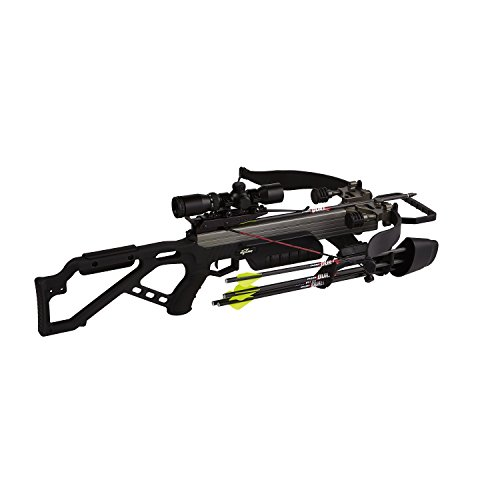 Excalibur Crossbow Micro 335 Crossbow with Nightmare Package/Scope (Draw Weight : 270-Pound), Black, Recurve