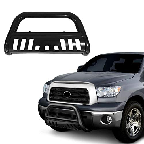 - Luyao Front Bumper Bull Bar Grill Guard Skid Plate for 2009-18 Dodge Ram 1500 Black