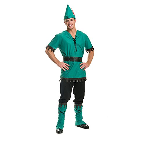 Charades Men's Robin Hood Costume, As As Shown, Large (Peter Pan Once Upon A Time Costume)
