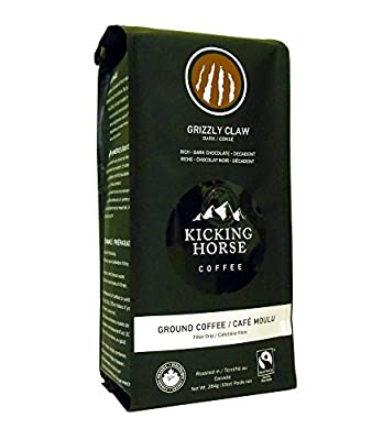 Kicking Horse Ground Coffee, Grizzly Claw Dark Roast, 10 Ounce