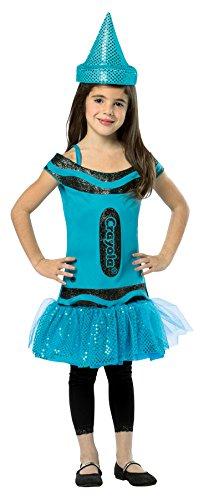 Crayola Costume Amazon (Rasta Imposta Crayola Steel Blue Tank Dress, 4-6 Years)