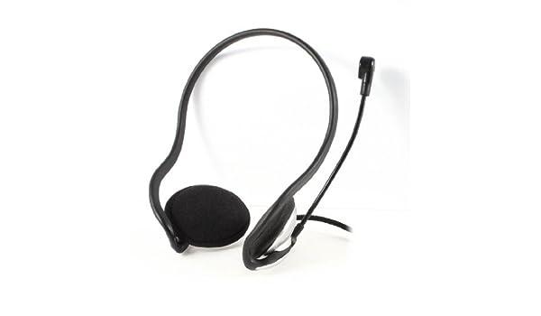 Amazon.com: eDealMax tono de Plata delgada diadema de escritorio del ordenador portátil Auricular Con conector DE 3,5 mm w Micrófono: Home Audio & Theater