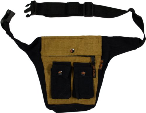 Guru-Shop Panno Sidebag Gürteltasche E-1, Unisex - Adulti, Marrone, Dicotone, Size:One Size, Fondine Sidebag