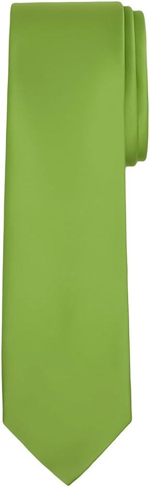 Jacob Alexander Men/'s Extra Long Solid Color Tie
