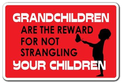 (Grandchildren Sign Grandpa Grandad Grandmother Nana Grandma Kids | Indoor/Outdoor | 12