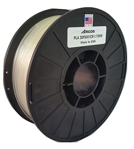 Natural Argos 1.75mm PLA 2.2lbs Clear Spool MADE IN THE USA : 3D Printer Filament 1kg Dimensional Accuracy: +//- 0.05mm Argos Corporation