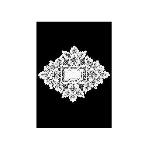 Heritage Lace Heirloom 12-Inch by 9-Inch Doily, White, Set of 2