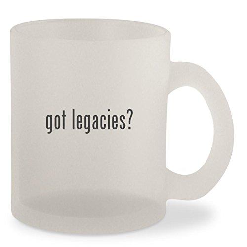 got legacies? - Frosted 10oz Glass Coffee Cup Mug