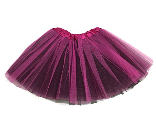 [Rush Dance Sports Team Ballerina Girls Dress-Up Ballet Costume Recital Tutu (Kids (3-8 Years Old), Hot Pink & Black)] (Dance Costumes For Teams)