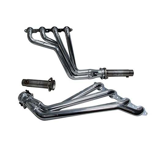 BBK Performance Parts 40530 Long Tube Exhaust Header CNC Mandrel Bent Tubes 1.875 in. Tubing Full Length Direct Fit Design Incl. 2 Off Road – Race Only Pipes Polished Silver Ceramic Finish Long Tube Exhaust Header